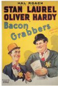 LAUREL AND HARDY BACON GRABBERS ( 1929 ) POSTCARD